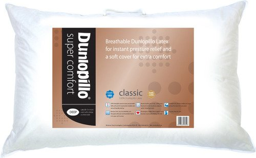 Dunlopillo Super Comfort Latex Pillow With Protector. New Model
