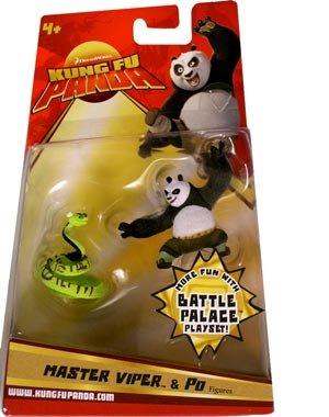 Buy Low Price Mattel Kung Fu Panda Movie Figure 2-Pack Master Viper & Po (B0018SNGZ4)