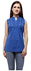 Peptrends Women's Top (TO15082BL_S, Blue, S)
