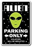 ALIEN ~Novelty Sign~ parking space aliens ufo gift