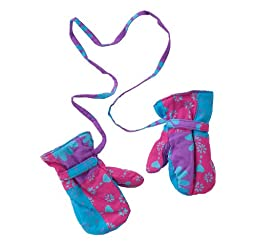 Baby Girls Fleece and Patchwork Mittens Small