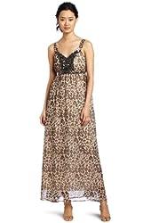 Romeo & Juliet Couture Women's Animal Maxi Dress