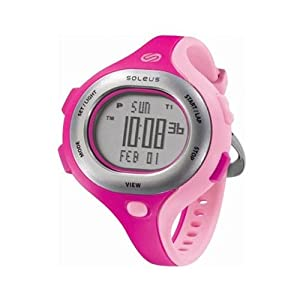 Unisex Soleus SR009672Chicked -Rhored/ShyPink/Pink Pink 5 Interval Timers Dual T