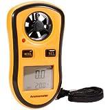 Anémomètre - Numérique Vent Vitesse Mesure de température Jauge de mesure de vitesse Anémomètre / Air - Outil Idéal pour planche à voile, voile, pêche, cerf-volant et d'alpinisme
