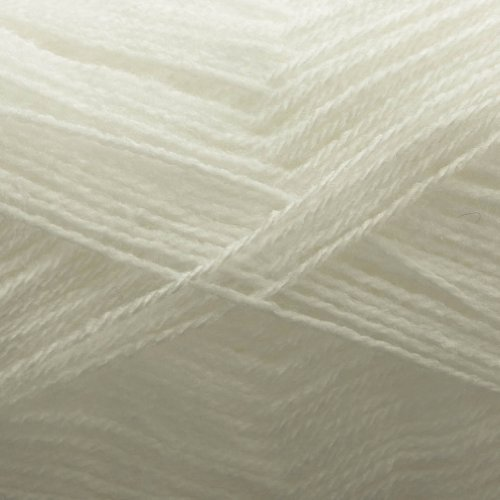 Big Value Baby 3 Ply Super Soft 100% Premium Acrylic Wool Knitting Yarn by King Cole White 100g