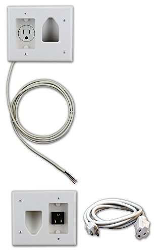 Datacomm 50-3323-WH-KIT Flat Panel TV Cable Organizer Kit with Power Solution - White (Home Theater Panel compare prices)