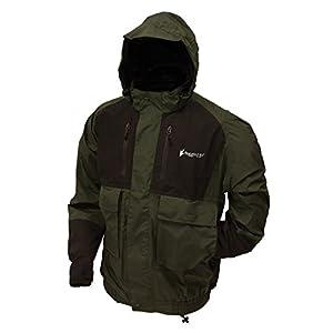 Frogg Toggs Men's Firebelly 2-Tone Jacket, Green/Black, Medium