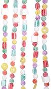Kurt Adler 98242 Plastic White Flocked Candy Garland