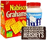 S'mores DIY Kit includes Vanilla Marshmallow Fluff 213 g/ Nabisco Original Grahams 408 g/ 4 x Hershey's Milk Chocolate Bar 43 g