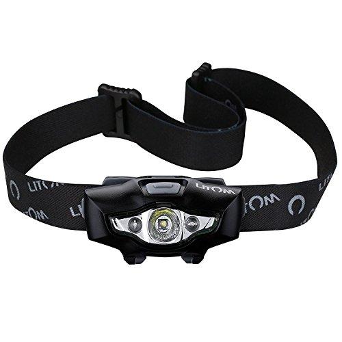 Litom LEDヘッドライト スポットライト【明るさ100ルーメン/実用点灯8時間】 防水仕様 6つの点灯モード キャンプ/サイクリング/ハイキングなどのアウトドア活動に適用