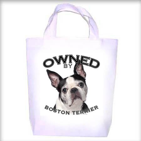 Boston Terrier BLACK Owned Shopping - Dog Toy - Tote Bag