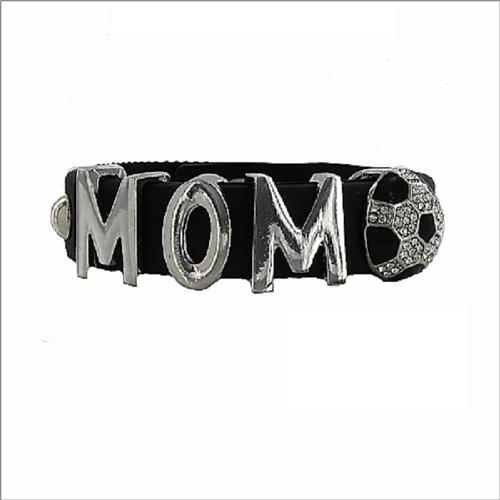 JOA Mom W Soccer Ball Rubber Band Bracelet #040799
