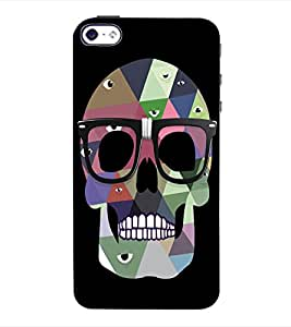 ColourCraft Skeleton Back Case Cover for APPLE IPHONE 4S
