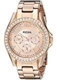 Fossil Women's Quartz Watch Ladies Dress ES2811 with Metal Strap