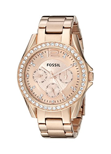 Fossil Women's ES2811 Riley Rose Gold-Tone Stainless