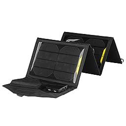SATOXI 15W High-efficiency Portable folding Solar Charger/Power Bank Built-in regulartor board Outdoor Charging Panel