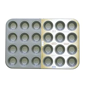 ADC-Baking Pan Cupcake Muffin Pan Mini 24 cup-Carbon Steel-Non-Stick