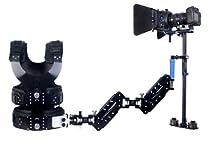 Redstar 1-7kg Pro Carbon Fiber Steadicam Steadycam Stabilizer + Vest + dual Arm Systems for Video Camera DSLR