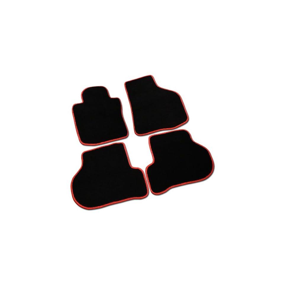 Volkswagen Golf Gti Mk6 Black Floor Mat Mats w/ Red Trim