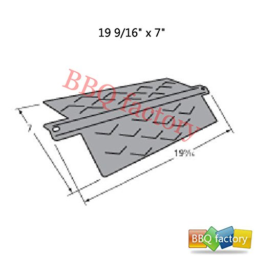 BBQ factory 96411 Porcelain Steel Heat Plate Replacement for Select Gas Grill Models Aussie 7710.8.641 and Aussie 7710S8.641