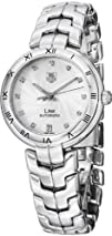 Tag Heuer Link Lady Caliber 7 Automatic Diamond Silver Dial Stainless Steel Ladies Watch…