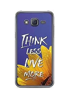 YuBingo Think Less. Live More Designer Mobile Case Back Cover for Samsung Galaxy J5