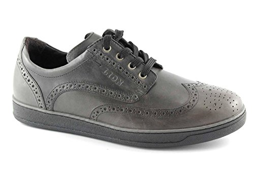 LION 11100 ETRUSCO grey grigio scarpe uomo sportive eleganti derby inglese 43