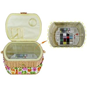 Lil Sew & Sew Fs095 Sewing Basket With 42Pc Sewing Kit from Lil Sew & Sew