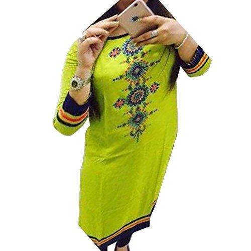ZHot-Fahion-Womens-Embroidered-semi-stitched-Selfie-Kurti-In-Georgette-Fabric-ZHKRT1015Free-SizeSea-Green