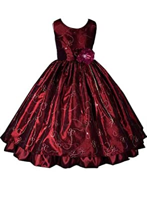 AMJ Dresses Inc Burgundy Fairy Flower Girl Holiday Dress Size 8