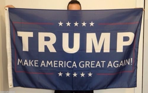[Trump 3x5 Foot Flag 2016 Make America Great Again Donald for President USA] (Prison Mike Halloween Costume)