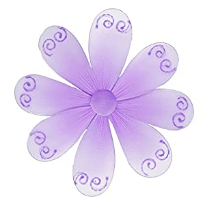 Hanging flower 6 small purple lavender swirls for Decorate with flowers amazon