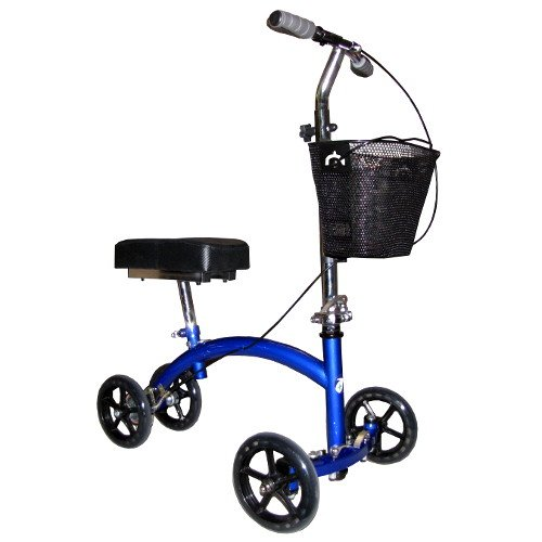 Knee Walker - Deluxe Steerable Knee Cycle Scooter in Blue