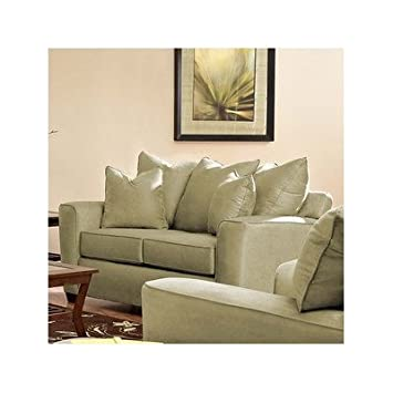 Klaussner Camel Heather Microsuede Loveseat E56044-LS