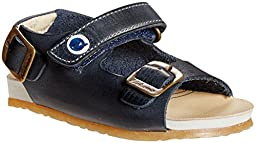 Naturino Falcotto Leather Sandal (Inf/Tod) - Navy -18 EU/2 US