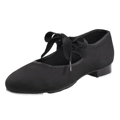 Chaussures de claquette en toile talon bas Capezio 825 - Noir - Taille 41.5