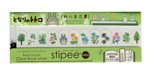 Tonari no Totoro stepper mini [wild flowers] ☆ post it clear bookmark, book or notebook swollen fun functional ☆