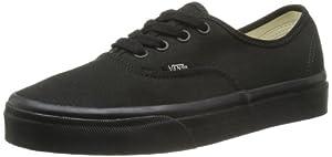 Vans Authentic - Zapatillas de lona unisex, color negro (black/black), talla 39