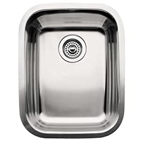 Blanco 510-879 Supreme 3/4 Single Bowl Kitchen Sink, Satin Polished Finish