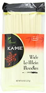 Ka-Me Noodles, Wide Lo Mein, 8 Ounce (Pack of 12)