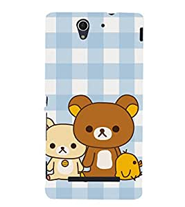 Teddy Bear 3D Hard Polycarbonate Designer Back Case Cover for Sony Xperia C3 Dual :: Sony Xperia C3 Dual D2502