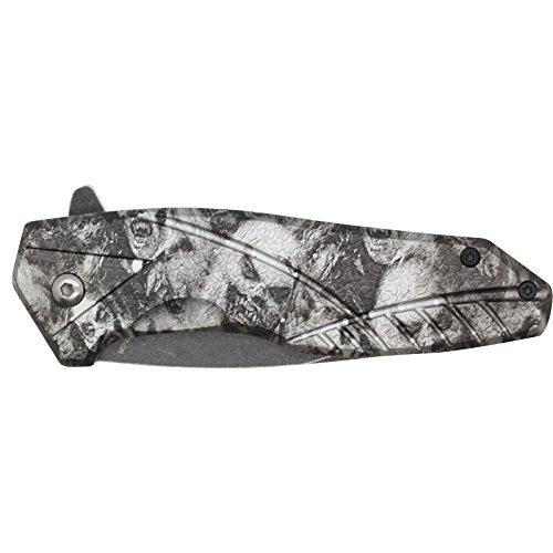 "SAS 4.5"" Grey/Black Zombie Killer Spring Assisted Pocket Knife"