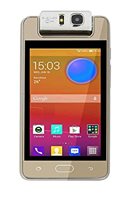 "Microkey E9 4"" Touch Screen 1.3 GHZ Quad Core 180degree rotating camera mart Phone-Gold"