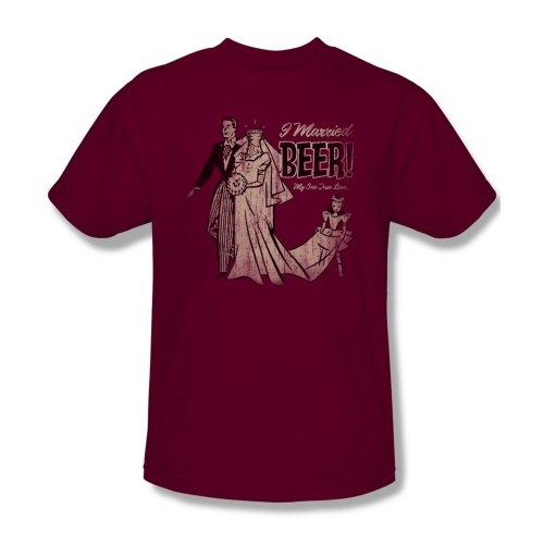 I-Married-cerveza-Camiseta-de-en-para-hombre-Cardinal