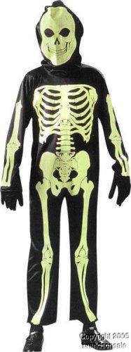 Kids Glow In The Dark Skeleton Costume (Sz:Sm