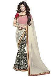 ayesha takia in beautiful new off white designer saree