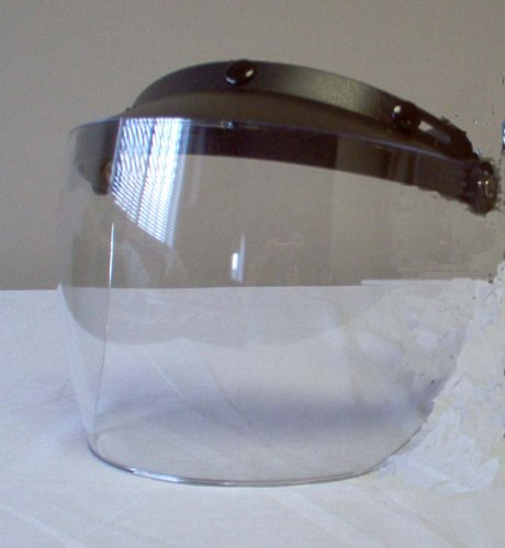 Motorcycle Helmet Deluxe Flip Face Shield Visor New MXL