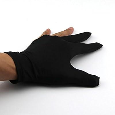 5 Pair of Billiards Pool Snooker Cue Shooters 3 Fingers Gloves