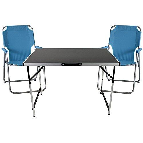 3tlg-Campingmbel-Strandmbel-Set-Sitzgruppe-Gartengarnitur-Gartenmbel-Balkonmbel-Universal-Klapptisch-hhenverstellbar-100x60cm-2x-Campingstuhl-klappbar-Polyesterbespannung-blau