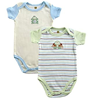 Touched by Nature Organic Bodysuit 2pk, Blue, 0-3 months